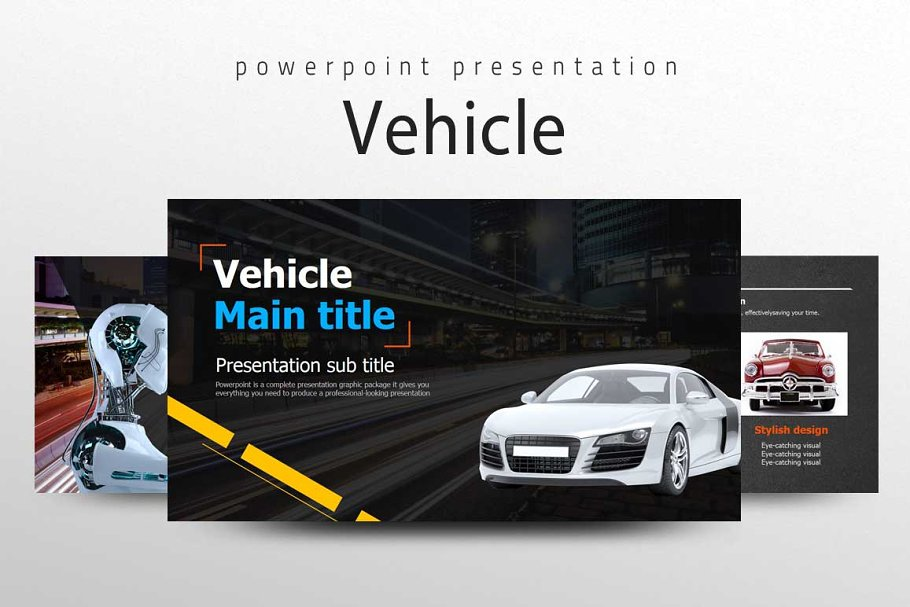 free ppt templates for automobile presentation