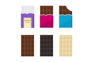 set of chocolate bar