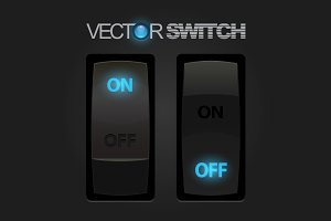 Cool Realistic Toggle Switch