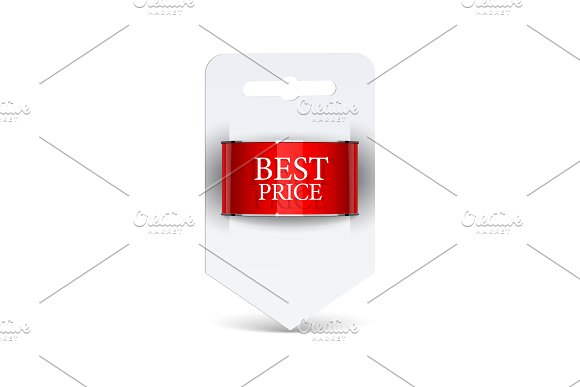 Sale Label Blank Paper With Ribbon