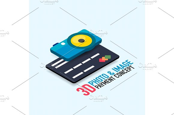 Vector Payment For The Image Concept