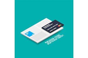 Vector payment for e-book or e-magazine concept