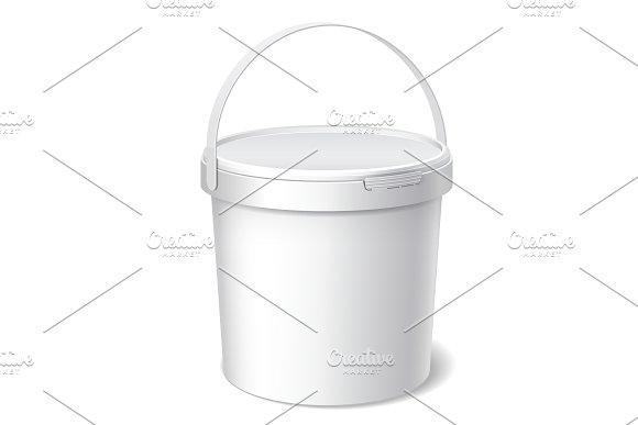 Small White Plastic Bucket