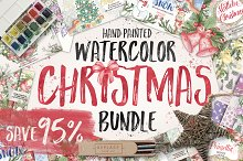 Watercolor Christmas Bundle Extended