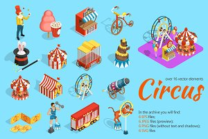 Circus Isometric Set