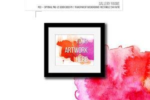 Minimalist gallery frame.