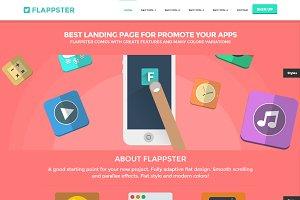 FLAPPSTER Bootstrap flat landing