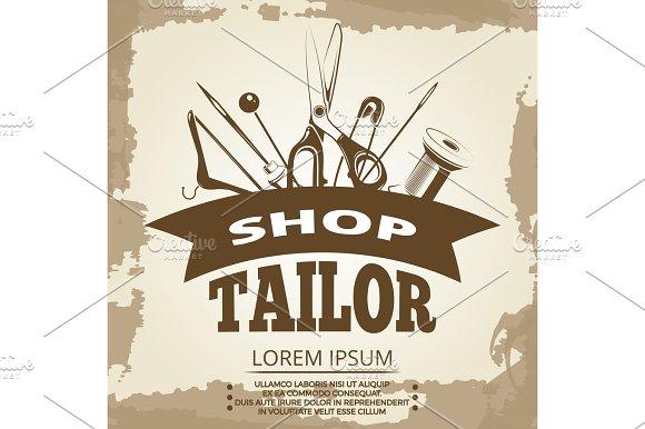 Vintage Tailor Shop Label Design