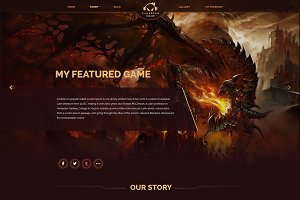Gamepro - Fantacstic Gamer Site PSD