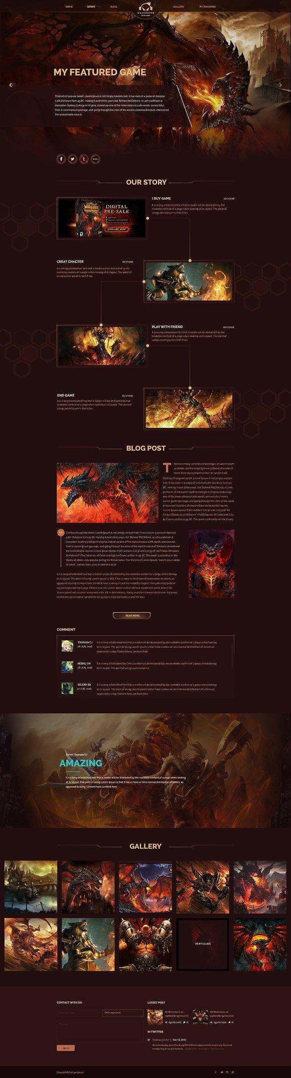 Gamepro Fantacstic Gamer Site PSD