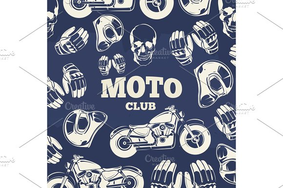 Moto Club Grunge Vintage Background