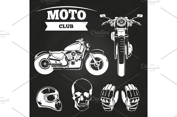Moto Club Motorcycle Helmet