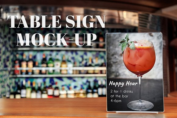 Table Sign MockUp