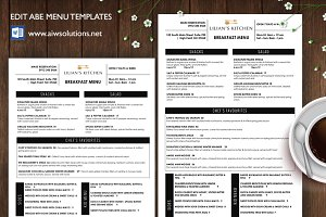 Editable Restaurant menu - ID29
