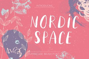 Nordic Space | Uppercase Font