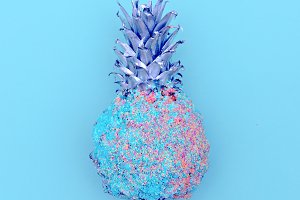 Pineapple in sequins. Minimal