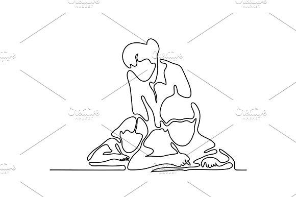 Teacher With Children Writting In Sheet