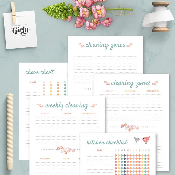 Cleaning Planner Home Binder