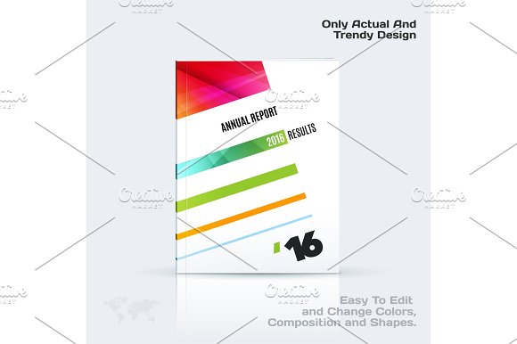 Business Vector Template Brochure Design Abstract Annual Report Cover Modern Layout Flyer In A4
