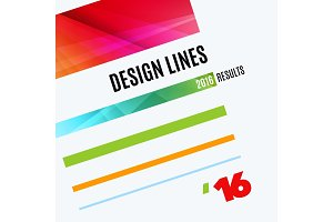 Abstract vector design elements for graphic layout. Modern business background