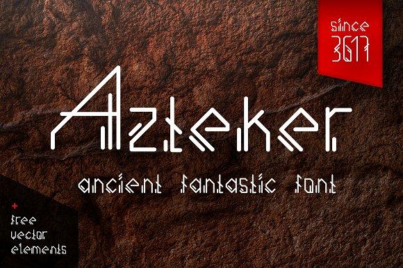 Azteker Ancient Fantastic Font