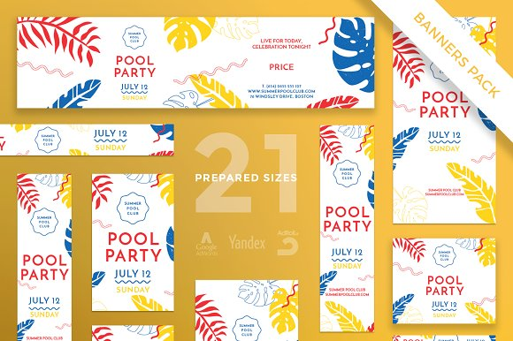 Banners Pack Pool Party