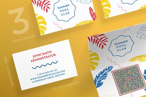 Business Cards | Pool Party