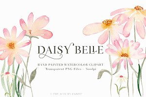 Daisy Belle - Watercolor Flowers
