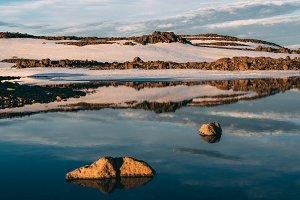 Glacier Lake on the Mountains