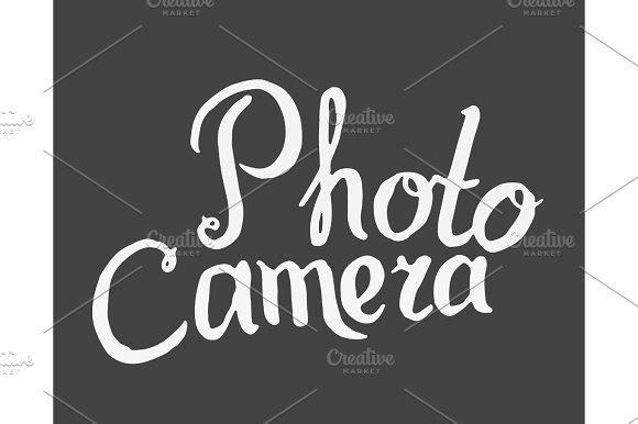 Photo Camera Inscription