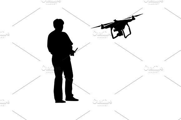 Man and drone