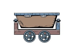 Metal mining trolley