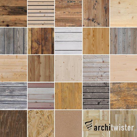 25 Seamless Wood Textures