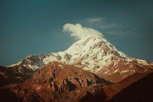 Snowy peak of Kazbek