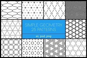 25 Simple Geometric Patterns