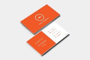 Simple Orange Business Card