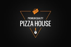 pizza logo design background