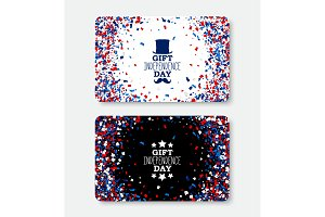Independence Day Gift Card template