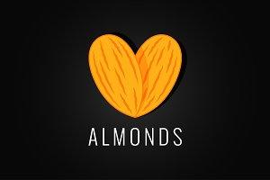 almonds logo design background