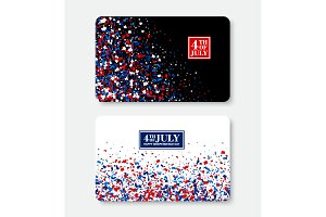 4th of July Gift Card template