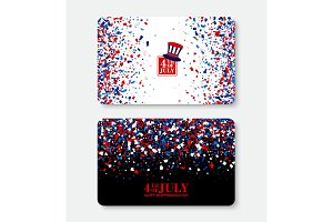 4th of July Gift Voucher template