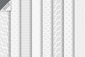 Modern seamless linear backgrounds