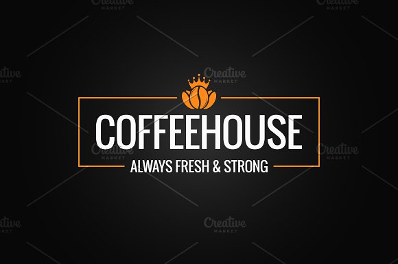 Coffee Beans Logo Design Background