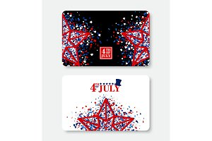 4th of July Gift Certificate sample