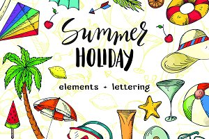 Summer holiday - Vector bundle