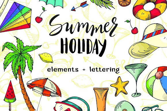 Summer Holiday Vector Bundle
