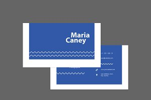 Simple Blue Business Card