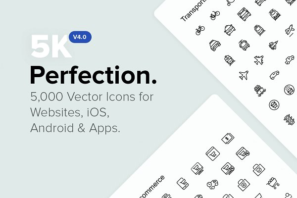 5,000 Perfect Icons. *NEW v4.0