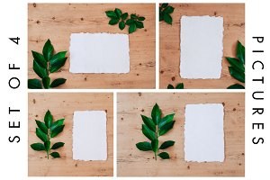 4 Artistic Watercolor Paper Mockups