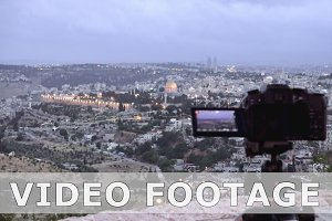 Camera shoots photo of the Jerusalem Old City